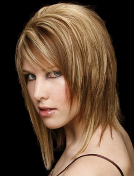 medium hair style with bangs hairstyles for length hair 2661