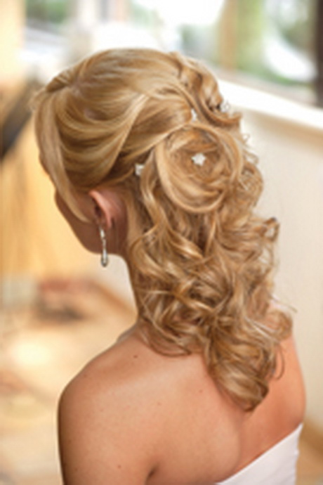 half up do hair styles half up curly wedding hairstyles 3786