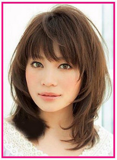 medium layered haircuts with bangs layered medium hairstyles with bangs 1447