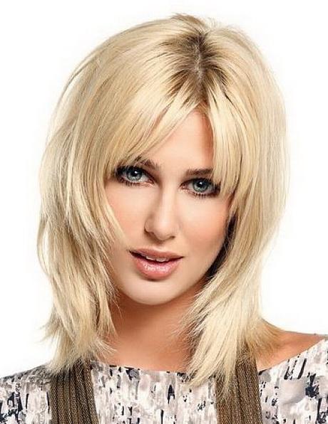 Layered medium length hairstyles with bangs