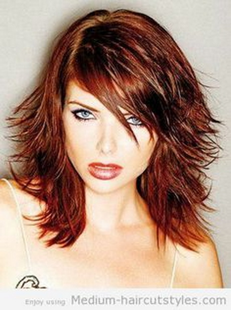 layered haircuts medium length hair haircuts for thin hair on top of for hairstylegalleries 2240