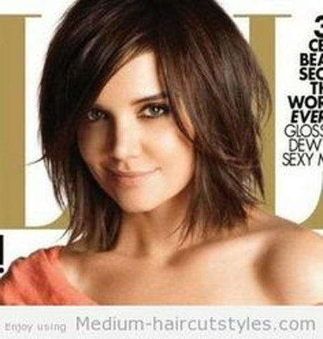 Medium short hairstyles 2014