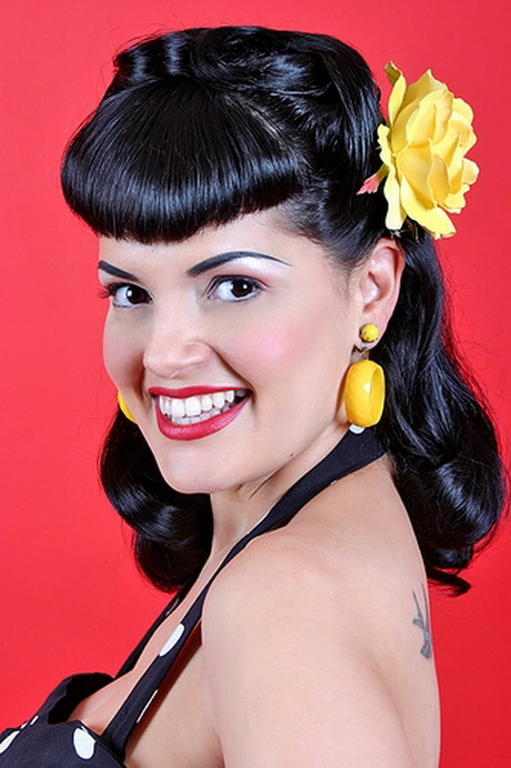 black hair pinup styles pin up hairstyles for hair 2280 | pin up girl hairstyles for short hair 31 14