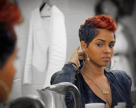 The selection of best black women hairstyles starts with short haircut