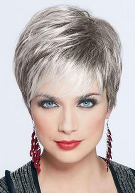 Short hair styles for gray hair