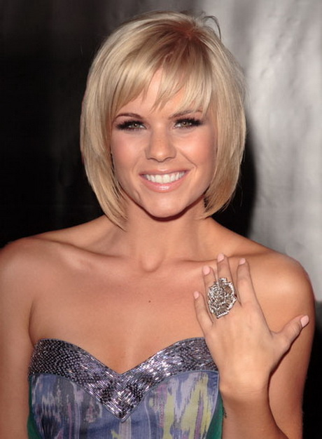 Short hairstyles with bangs and layers