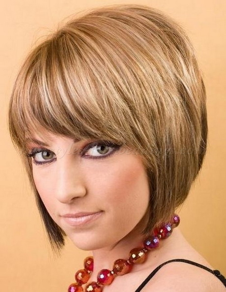 bob haircut with bangs and layers layered bobs with bangs 5640