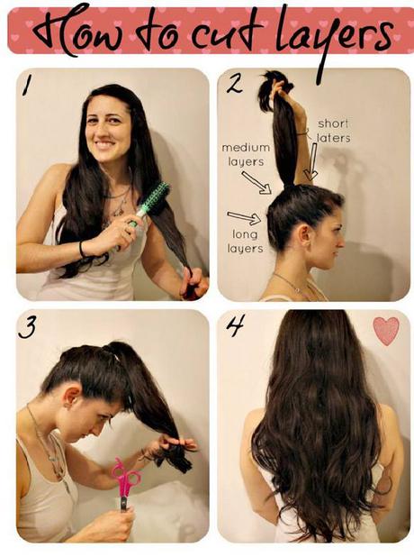 Step by step layered haircut