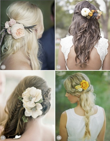 hair wedding styles with flowers wedding hairstyles for hair with flowers 9028