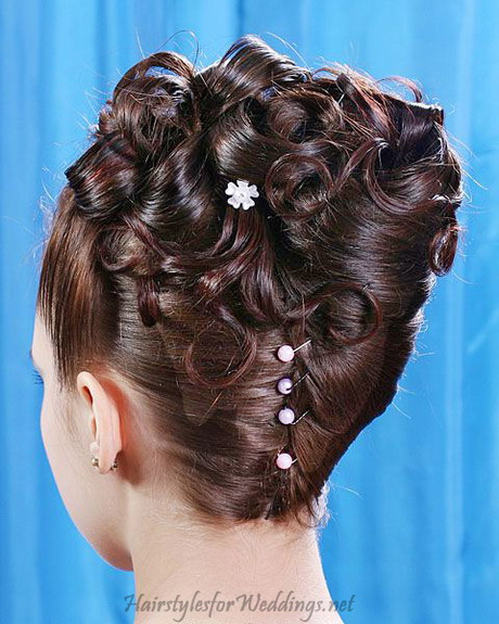wedding styles for medium hair updo wedding hairstyles with veil for black 9638
