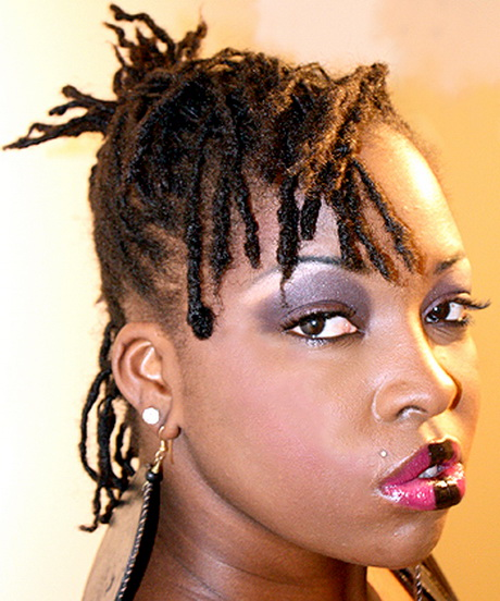 2 hairstyles for short dreads