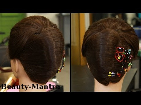 Hairstyle for saree in kerala