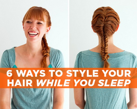ways to style your hair overnight hairstyles you can sleep in 4946
