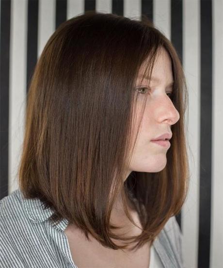 Medium length haircuts with bangs 2020