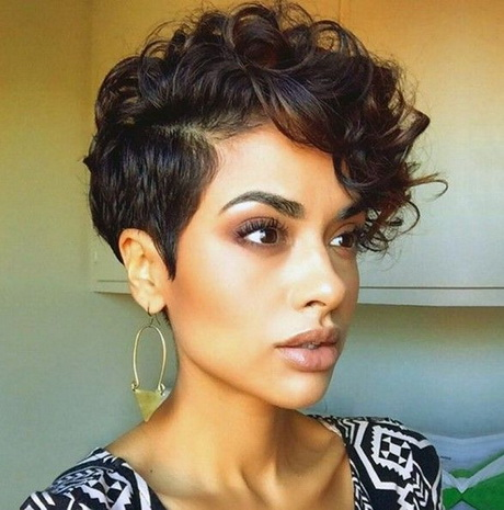 Black short curly hairstyles 2016