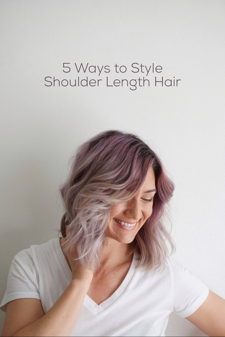 how to style to medium length hair ways to style shoulder length hair 9539