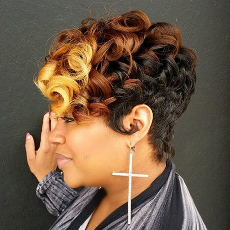 Short colored hairstyles for black women