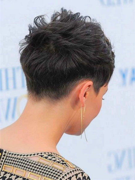 back view of pixie haircuts