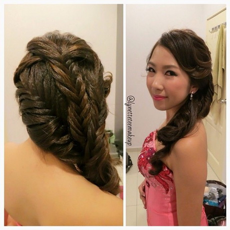 wedding dinner hair style styling braids for dinner styling braids for 8360