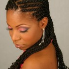 Black braided hairstyle