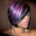 Black feathered hairstyles