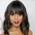 Black hairstyles with bangs and layers
