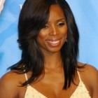 Black hairstyles with long weave