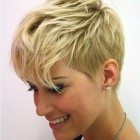 Blonde short haircuts