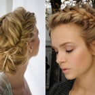 Bridesmaid braided hairstyles