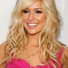 Curly hairstyles with side bangs