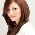 Layered haircut for round face