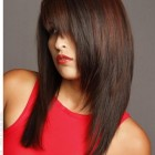 Layered straight haircuts