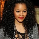 Long curly black hairstyles