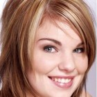 Medium hairstyles for women with round faces