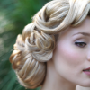 Retro wedding hair