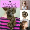 School hairstyles for long hair