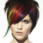 Short coloured hairstyles