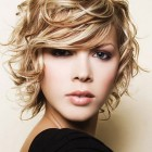 Short curly blonde hairstyles