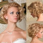 Short curly wedding hairstyles