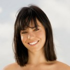 Shoulder length haircut with bangs