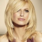 Shoulder length layered haircut