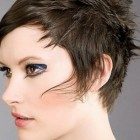 Styling pixie haircut