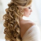 Wedding hair up and down