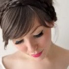 Wedding hair with bangs