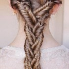 Woven braid hairstyle