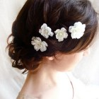 Floral wedding hair accessories