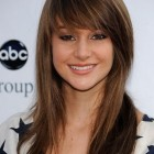 Pictures of medium length haircuts with bangs