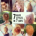 7 hairstyles for the week