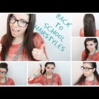 Hairstyles quick and easy for school