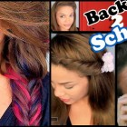 7 easy hairstyles for school
